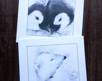 Polar Bear Christmas Card Polar Bear Print Christmas Tree Etsy