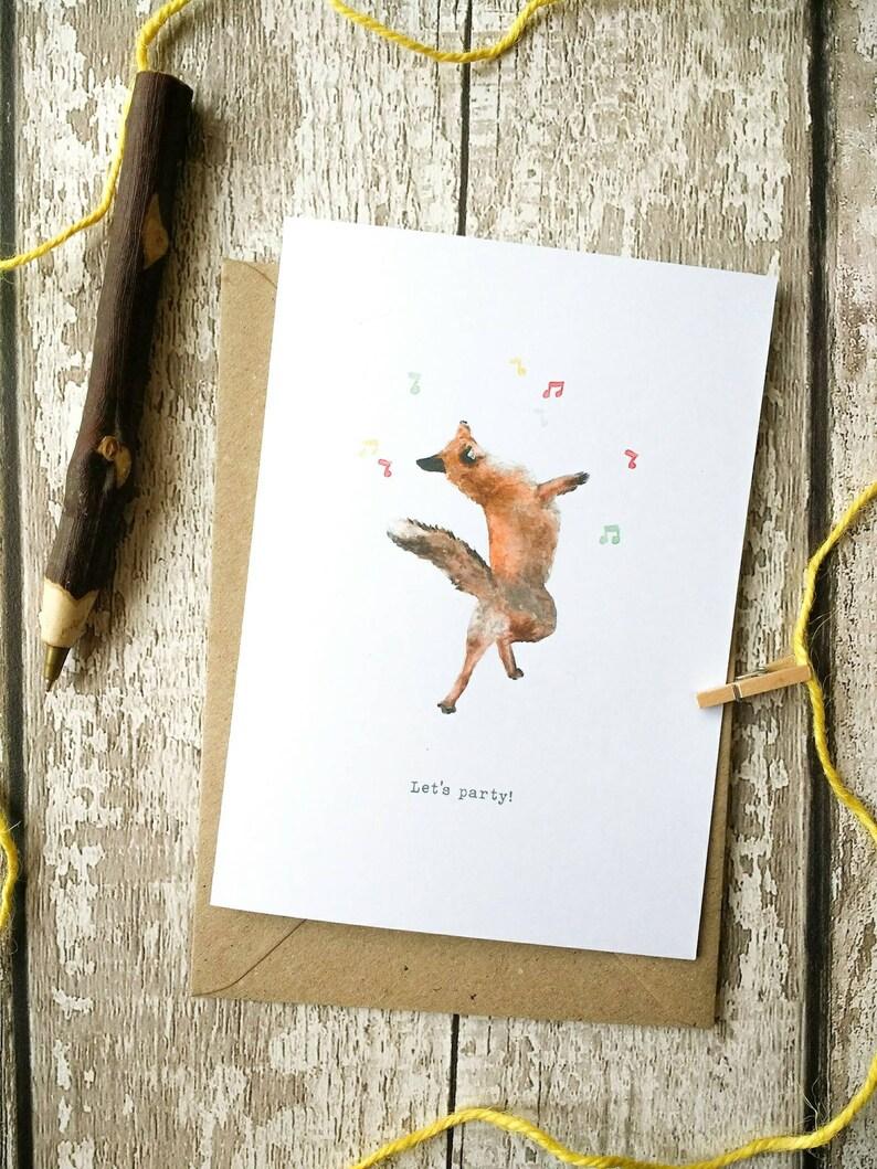 Fox Card, Fox Print, Fox Gift, Christmas Cards, Fox Birthday Card, Woodland  Animal, Nature Print