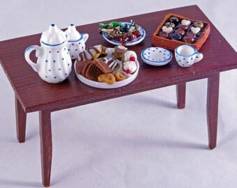 1:12 Dollhouse Miniature Furniture Kitchen 1 Tray 1 Bread Clip 6 Bread 8Pc//Set //