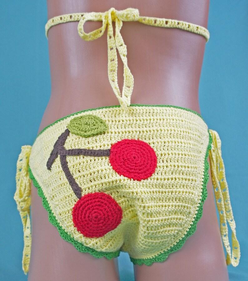 Costume Da Bagno A Maglia Alluncinetto Bikini E Pareo Per Etsy
