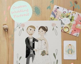 Custom Wedding Portrait Digital Download