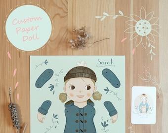 Custom Paper Doll Digital Download