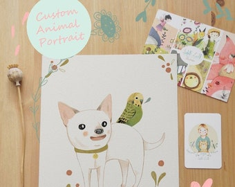 Custom Pet Animal Illustration