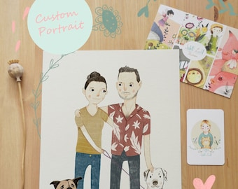 Custom Portrait Illustration Digital Download