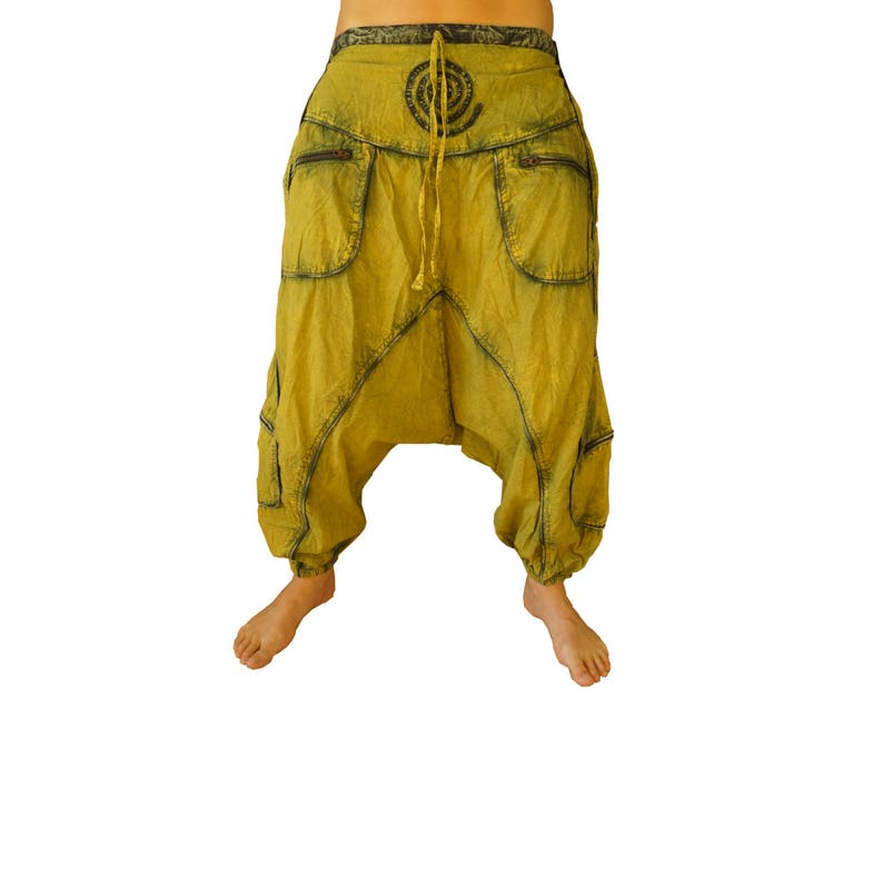 Harem Hose Hose Aladdin Boho Baggy Ali Baba BATIK RAINBOW
