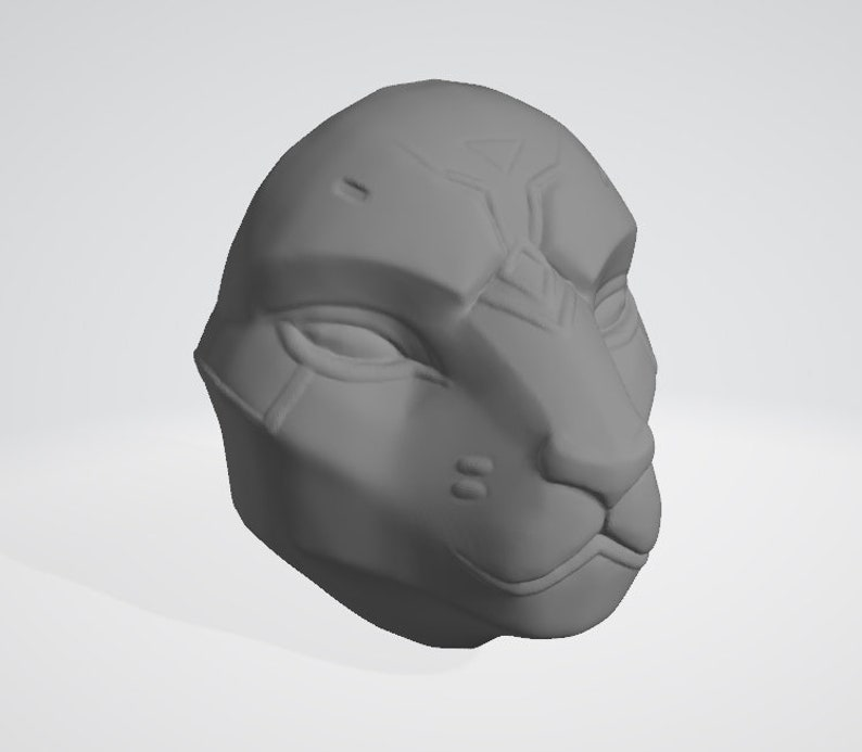 Overwatch Ana Bastet Mask mask helmet head piece cosplay prop 3d model for  print