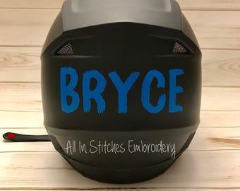 Vinyl Name for Helmet/BMX/Baseball/Football/Dirt Bike