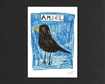 Amsel | Riso print