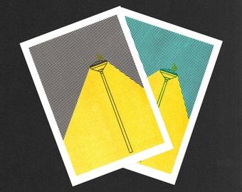 Lanterns | Riso print