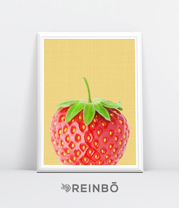 Erdbeere Wand Kunstdruck Erdbeer Fotografie Frucht zu