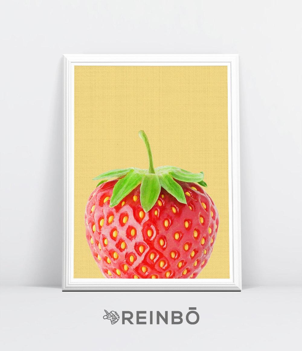 Strawberry Wall Art Print Strawberry Photography Fruit