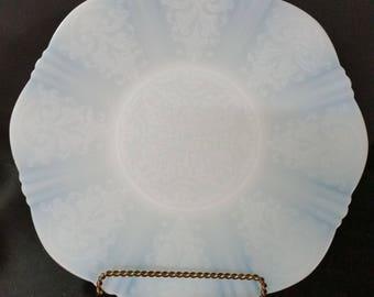 Vintage Opalescent White Serving Platter. Macbeth