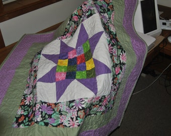 Pieced Quilted lap throw/wall hanging