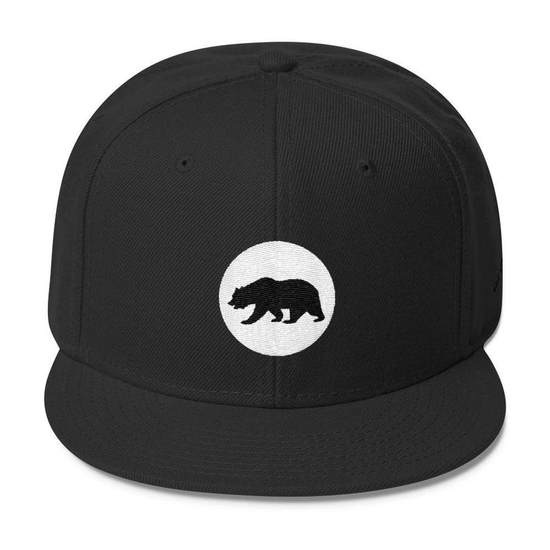 California Circle Flag Snapback  Free Shipping image 0
