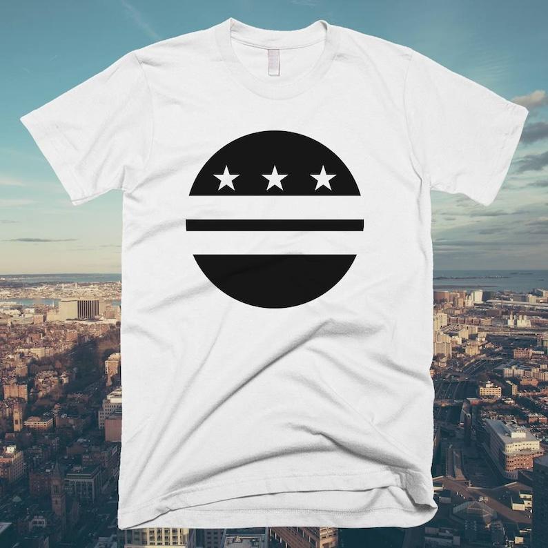 Washington DC Circle Flag T-shirt  Free Shipping image 0