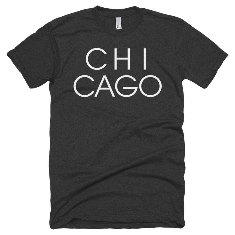 Chicago Letters T-shirt  Chicago Illinois  Free Shipping image 0