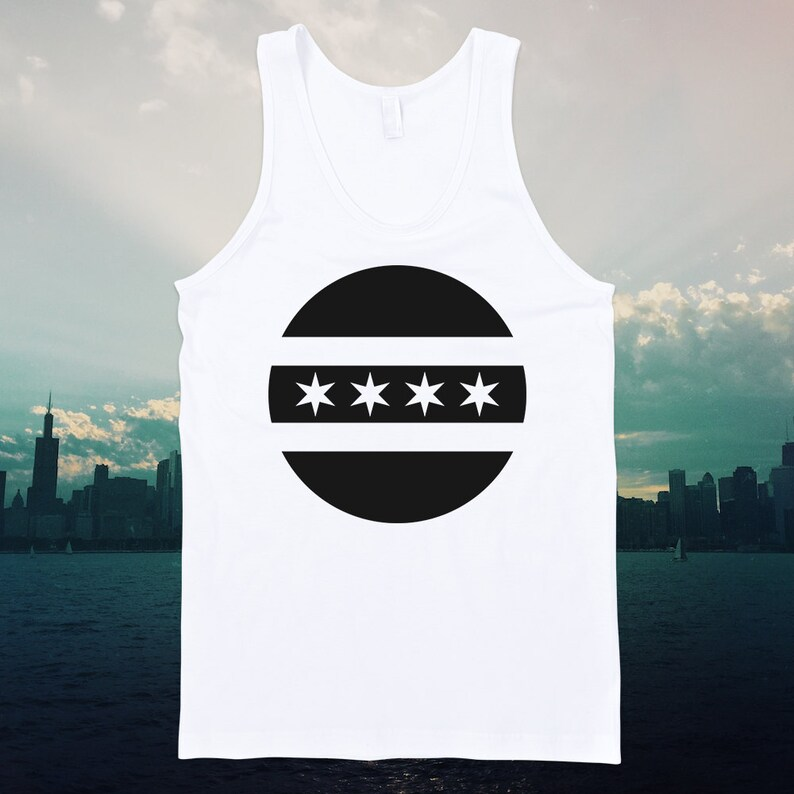 Chicago Circle Flag Tank Top  Free Shipping image 0