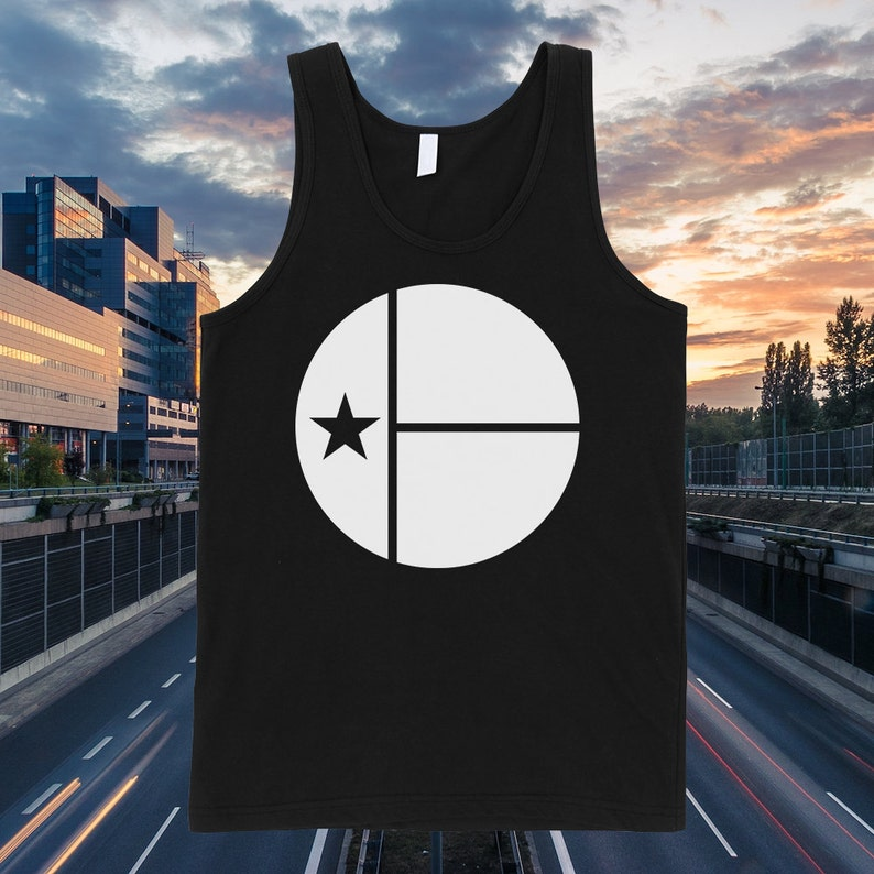 Austin Texas Circle Flag Tank Top  Free Shipping image 0