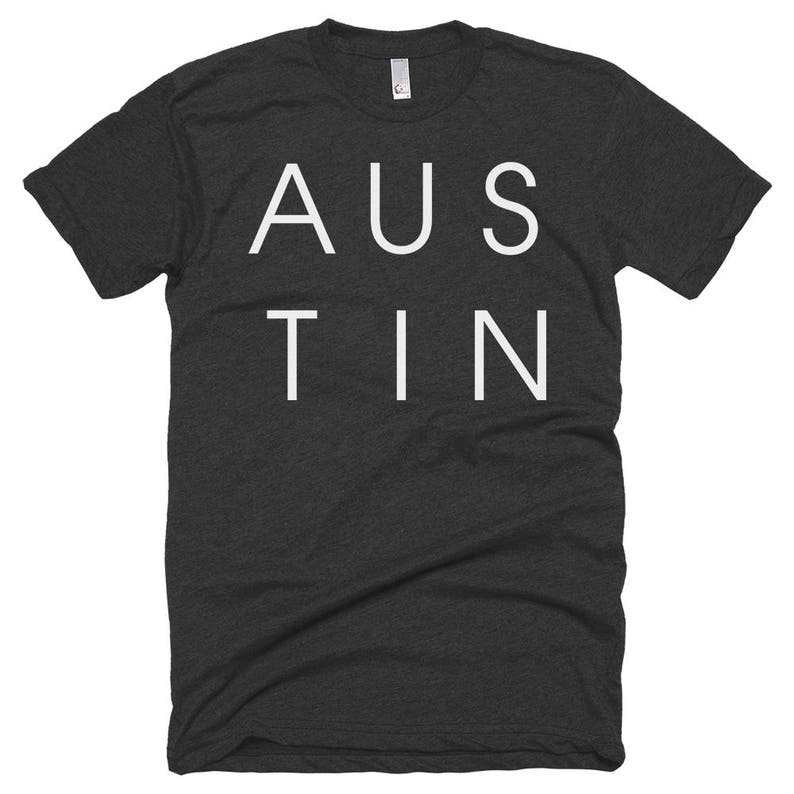 Austin Texas Letters T-shirt  Free Shipping image 0