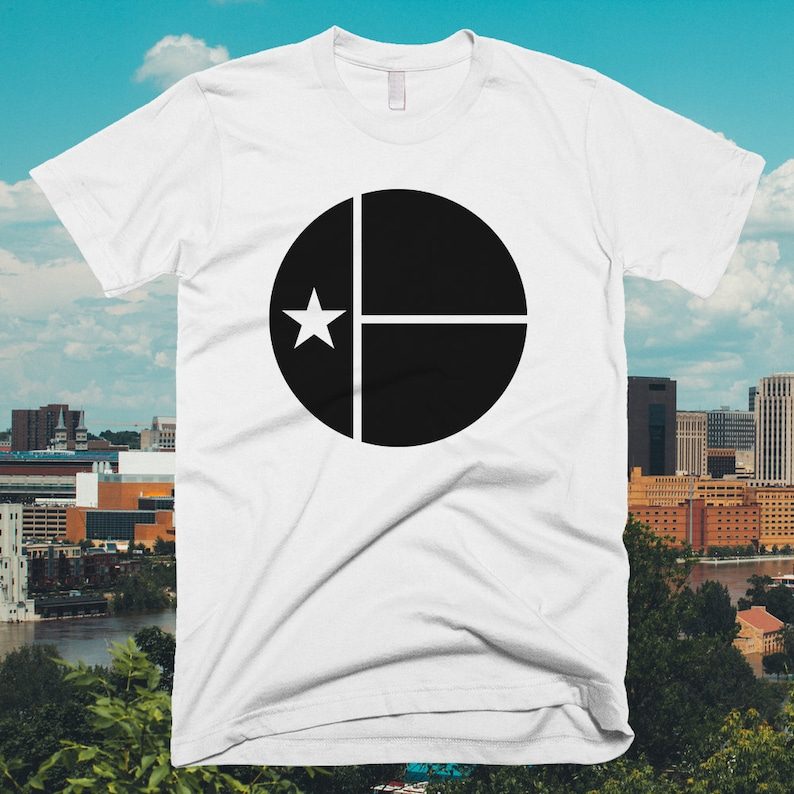 Austin Texas Circle Flag T-shirt  Free Shipping image 0