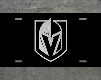 VEGAS STRONG GOLDEN KNIGHTS Stainless Steel License Plate Frame Rust Free W// Cap