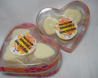 Mini Cocoa Butter Bath Melts - Oatmeal Honey Scented
