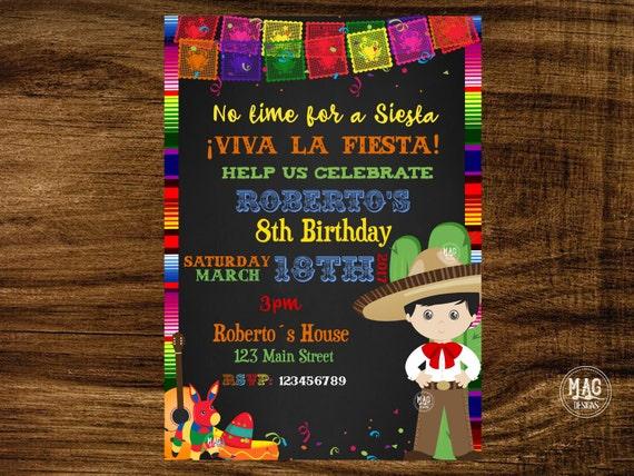 mexican invitation mexican party invitation fiesta etsy