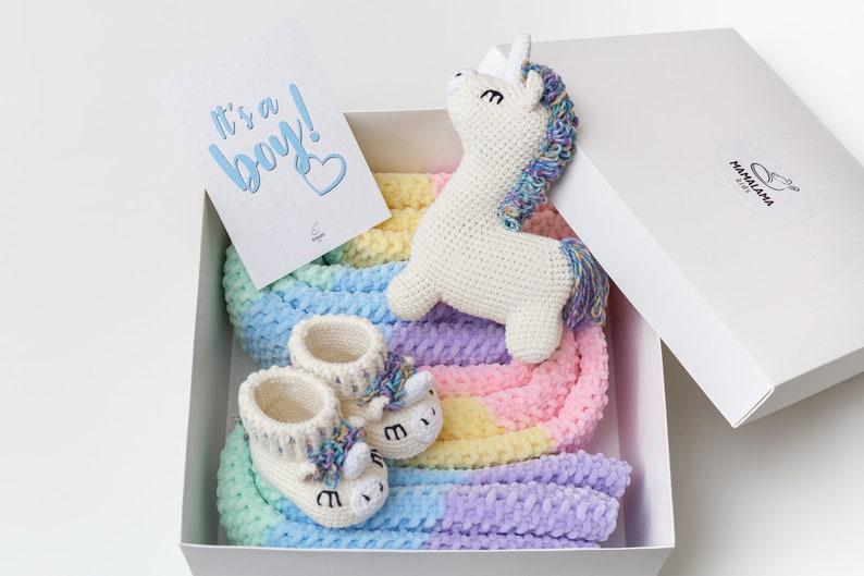 Coffret licorne au crochet - Créatrice ETSY : MamalamaKids