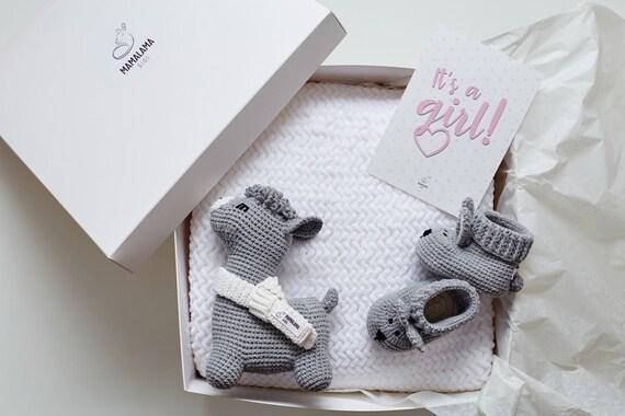 Attend cadeau maman maman maman ses une fille nouveau-né chaussures grossesse chaussons Lama belle ensemble cadeaux boîte cadeau pour maman à nouveau parents ami félicitations   Achats En Ligne  9fdc2e