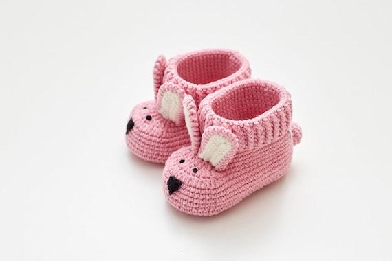 Sexe idées crochet mignon lapin chaussons bébé révèlent boîte nous attendent bébé révèlent grand-mère grossesse révèlent ensemble tante révèlent mignon