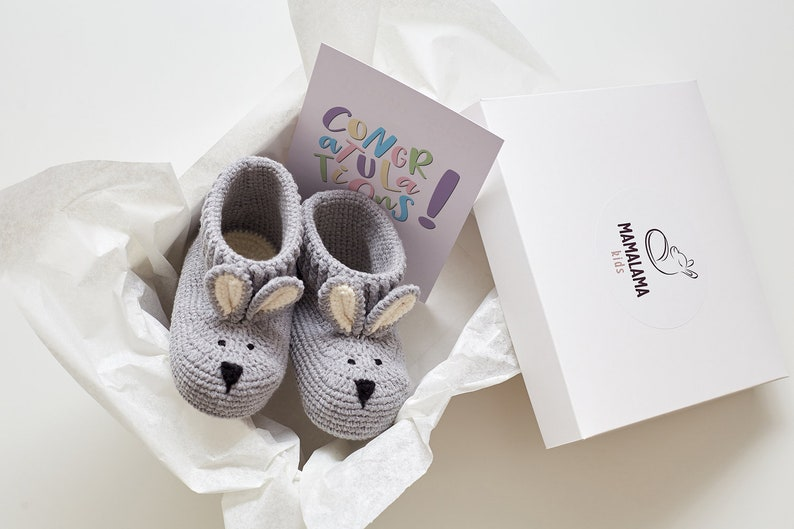 Organic Baby Clothes Crochet Bunny Booties Animal Slippers Etsy