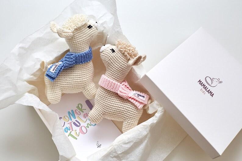 Coffret lama au crochet pour fille et garçon - Créatrice ETSY : MamalamaKids