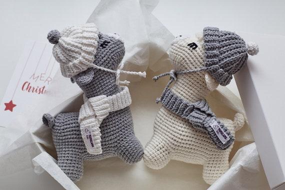 Weihnachten Dekoration Zwillinge Lama häkeln Spielzeug Alpaka
