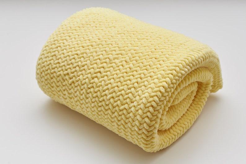 Welcome baby receiving gender neutral baby blanket gift idea Cute pregnancy shower newborn wrap congrats present Soft yellow bedding nursery