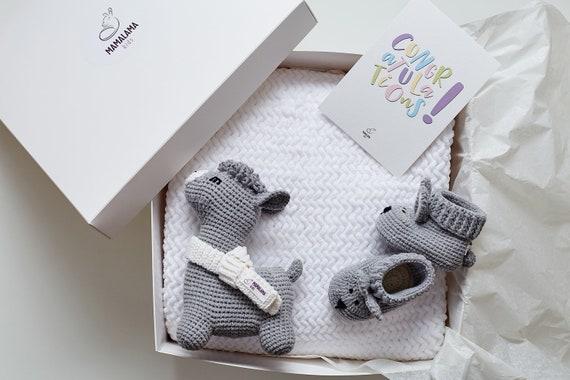 chaussons de sécurité et couverture Bébé Fille Mignon /& peluche 3 Pièces Ensemble Cadeau-Couverture