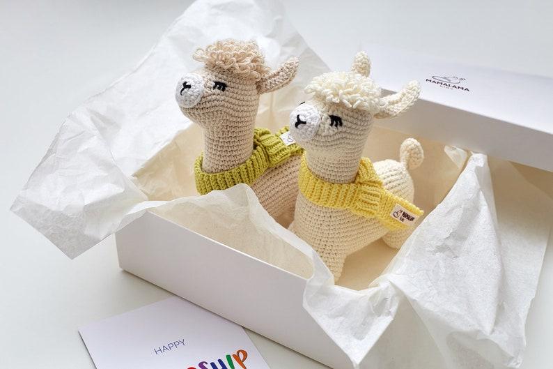 Coffret 2 lamas au crochet - Créatrice ETSY : MamalamaKids