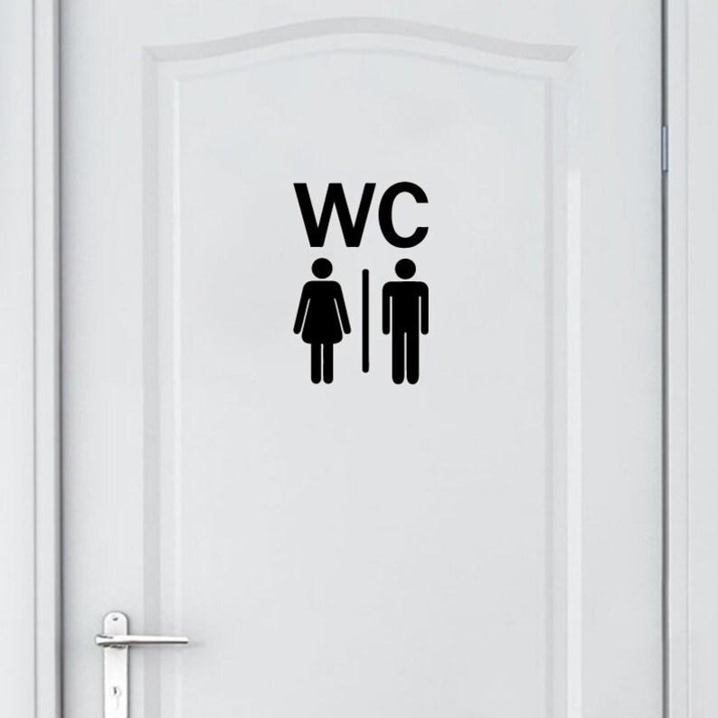 Poważne WC winylu naklejki WC winylu WC WC Kalkomania winyl drzwi | Etsy UI22