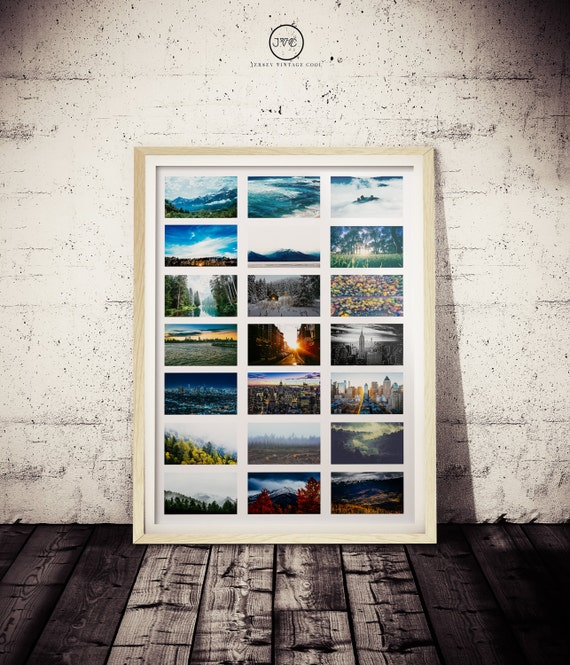 Nature And Cityscape Photo Collage Print WILDERNESS Art