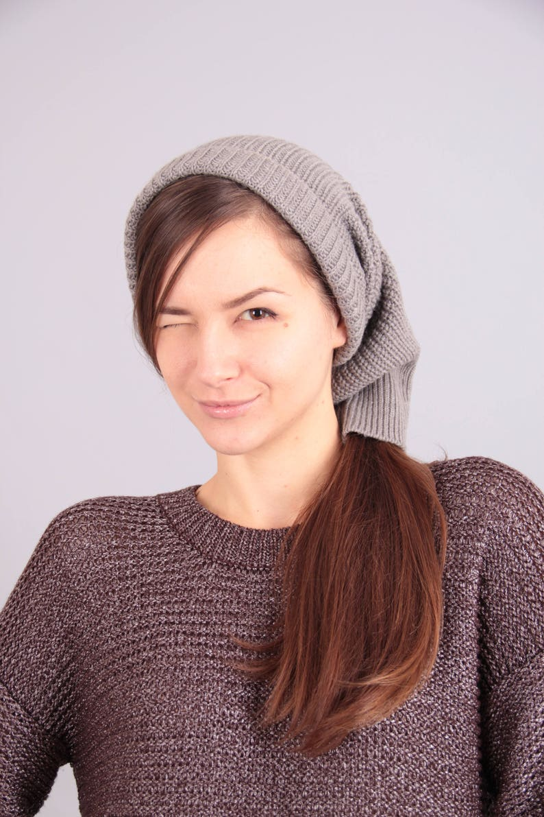 52717eb5346 Gift for her Women hat Gray hat Gift for teen Chunky knit hat
