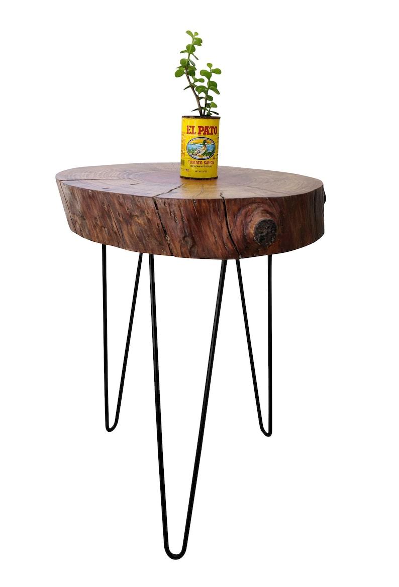 side stump tree log slice slab branch handmade table live edge Tree Log End Table trunk wood end