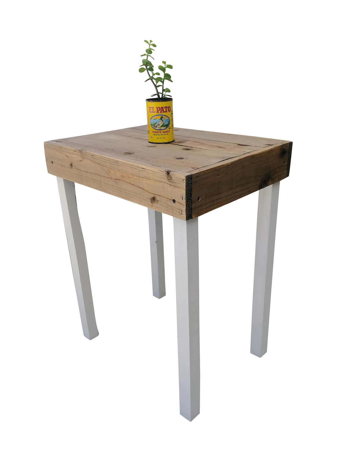 Farmhouse End Table - accent, bedroom, entryway, furniture, night stand, nightstand, pallet, shabby chic, side table, white, wood,