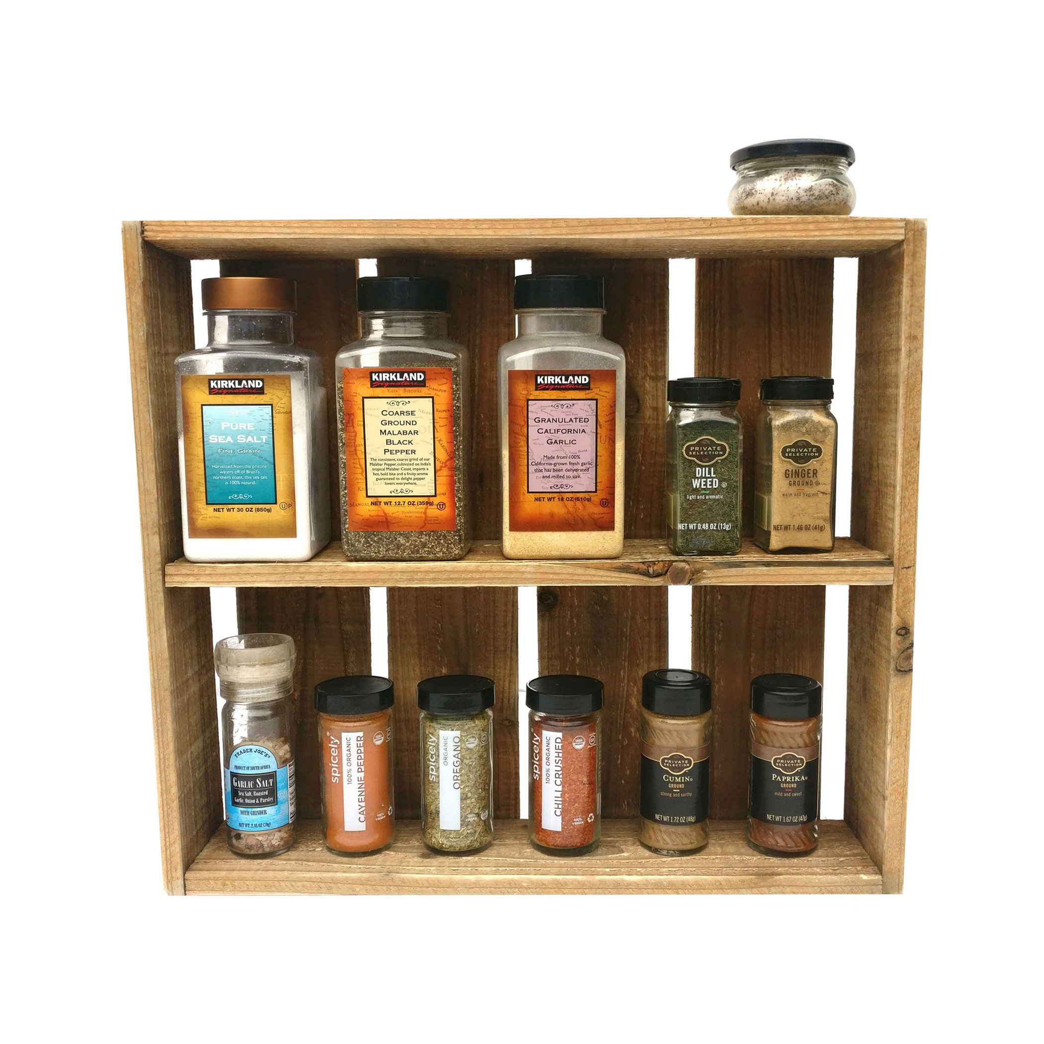 Woodworking Plans For Kitchen Spice Rack: Reclaimed Wood Spice Rack Box Countertop Decor Hanging
