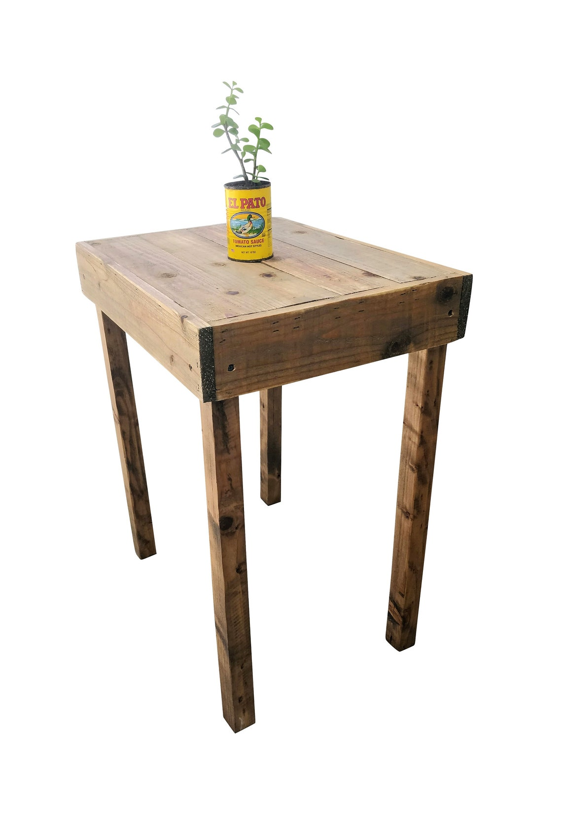 Reclaimed Wood Side Table - accent, bedroom, end table, entryway, furniture, living room, night stand, nightstand, pallet, rustic, wood