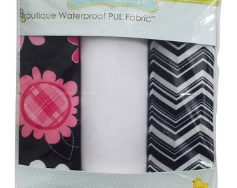 PUL Diaper Cuts - Girl Print PUL - Waterproof Fabric - Babyville PUL - Cloth Diapers - Wetbags - Bibs - Sanitary Napkins - Snack Bags