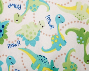 PUL 1 Yard - Waterproof Fabric - Dinosaur Dino  Babyville PUL - Cloth Diaper Sewing - Cloth Diapers - Wetbags - Bibs - Snack Bags & More!