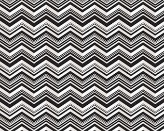 PUL 1 Yard - Waterproof Fabric - Chevron B/W  Babyville PUL - Cloth Diaper Sewing - Cloth Diapers - Wetbags - Bibs - Snack Bags & More!