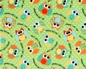 PUL - Waterproof Fabric - Owls Babyville PUL - Cloth Diaper Sewing - Cloth Diapers - Wetbags - Bibs - Snack Bags