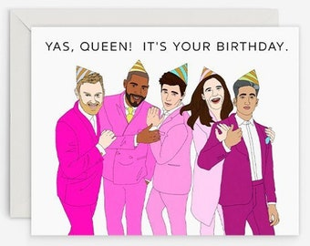 Queer eye birthday card | Etsy