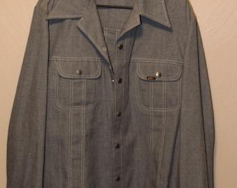 Vintage LEE work shirt // vintage Work Shirt // Vintage LEE shirt // Lee shirt // Lee work shirt // Work Shirt //