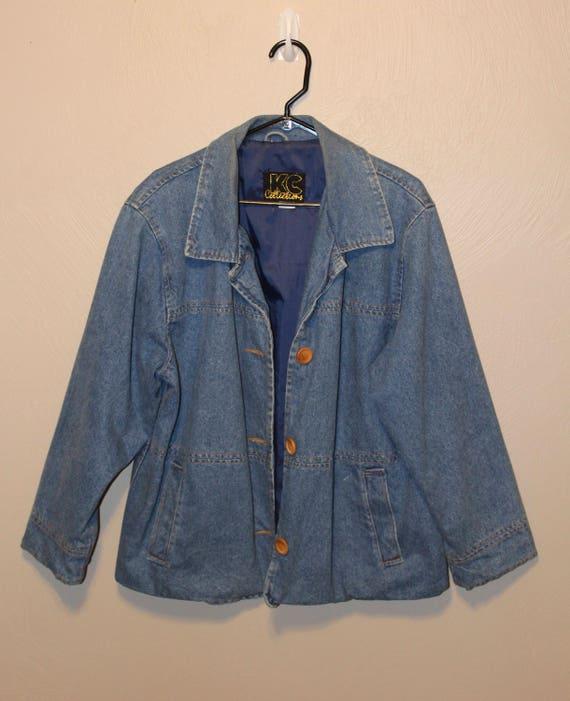 3f8385f59d Vintage Denim Jacket    90s Denim Coat    90s Denim Jacket